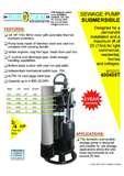 Sewage Pump Canada