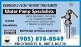 Photos of Sewage Pumps In Ontario